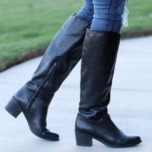Sam Edelman loren black leather high boots